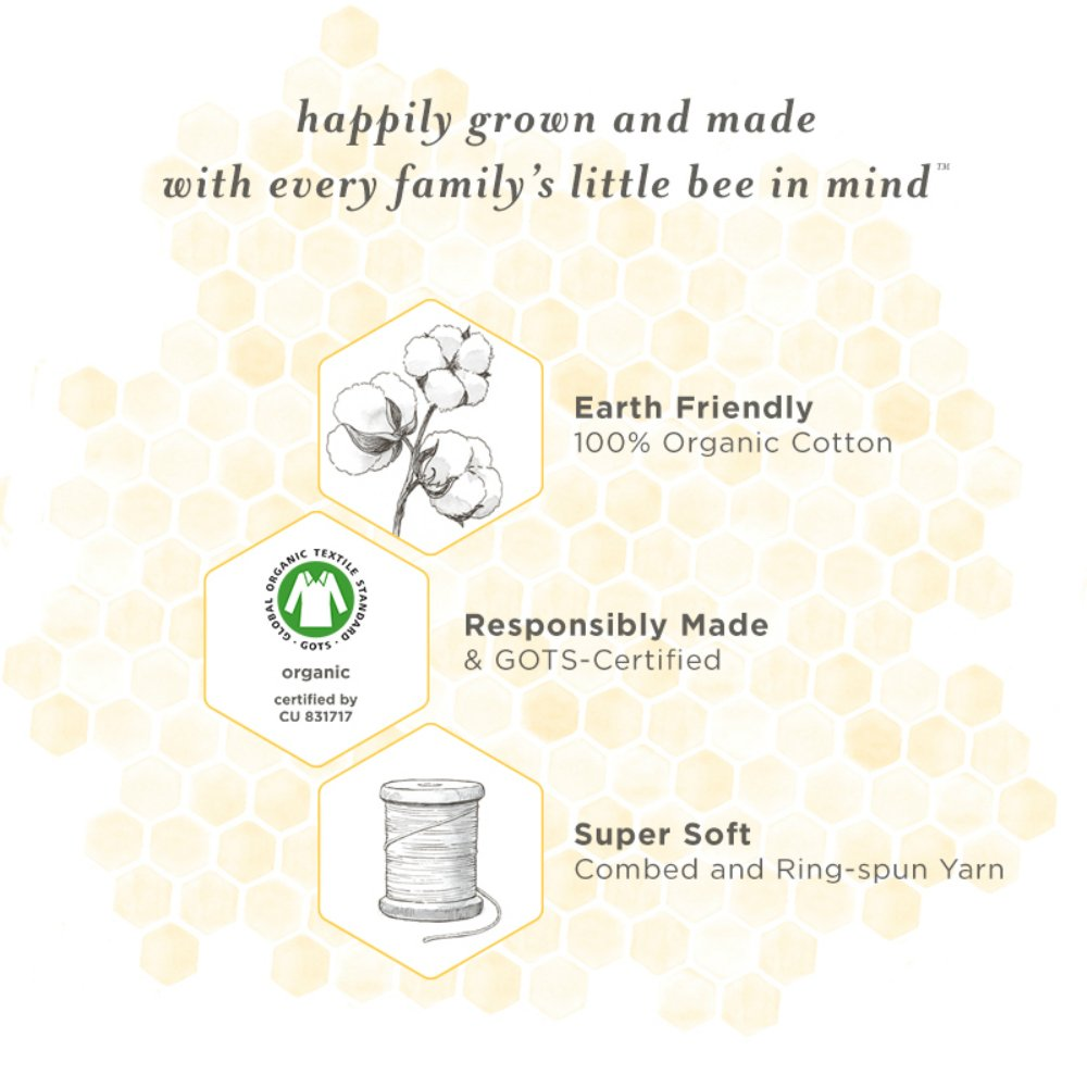 LOVATIC Baby Set of 10 Bee Essentials Solid Burp Cloths, 100% Organic Cotton, Cloud 10 Pack by LOVATIC (Image #5)