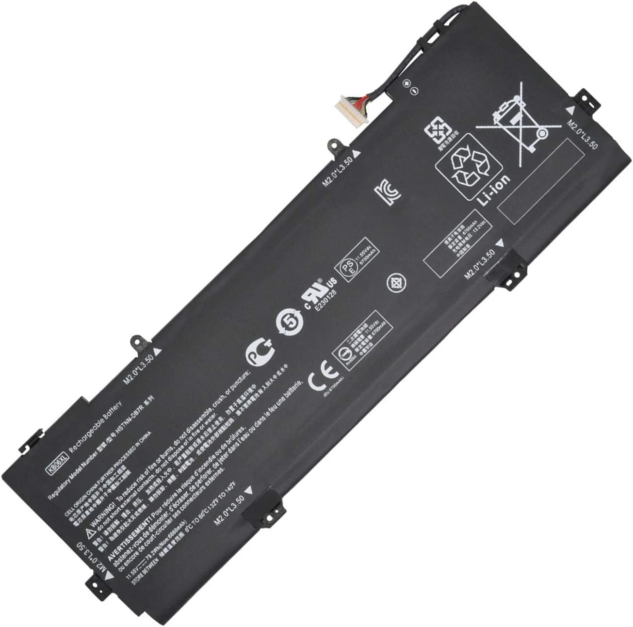 Hubei KB06XL HSTNN-DB7R TPN-Q179 902401-2C1 902499-855 Replacement Laptop Battery for Battery HP X360 15-BL002XX Series Z6K96EA Z6K97EA Z6K99EA Z6L00EA Z6L01EA Z6L02EA (11.55V 79.2Wh)