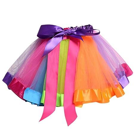 Lisanl falda tutú plisada para niñas pequeñas con borde de satén ...
