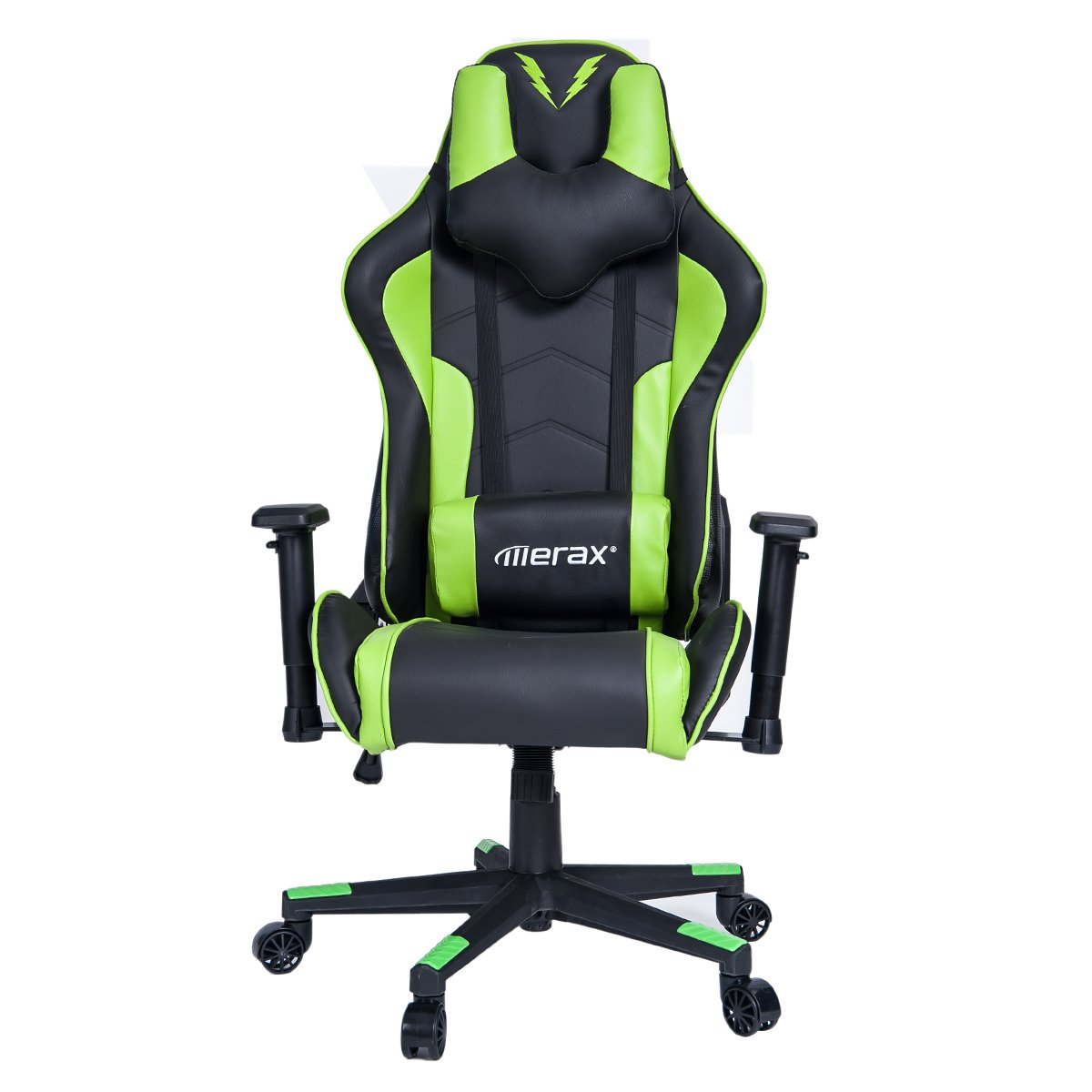 Merax U-Knight Series Racing Style Gaming Chair Ergonomic High Back PU Leather (Green and Black)