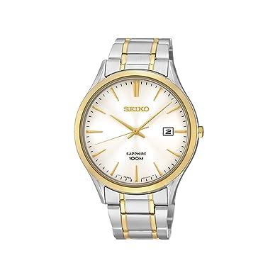 a43b947a8daa Seiko Reloj Clásico Bicolor Fondo Blanco Fecha  Amazon.es  Joyería