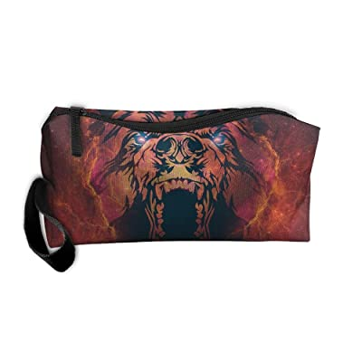 Ming Horse Galaxy Fierce Bear Small Travel&home Portable Make-up Receive Bag Hand Cosmetic Bag