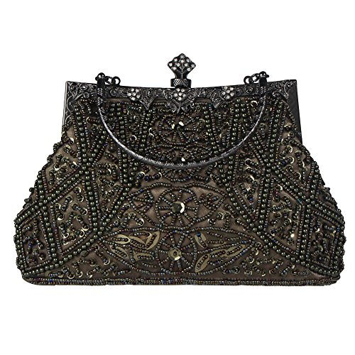 - Bagood Women's Vintage Style Beaded And Sequined Evening Bag Wedding Party Handbag Clutch Purse