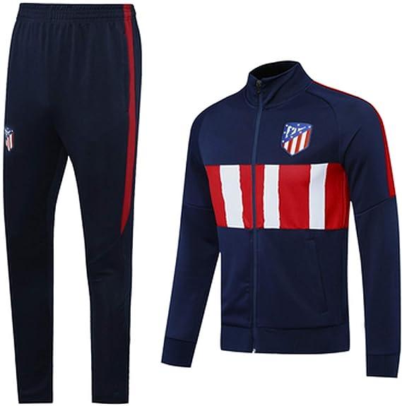 Camiseta de fútbol Atlětico Mǎdrid 2021 de cuello alto de manga larga para entrenamiento deportivo de equipo profesional, conjunto de uniforme y ...