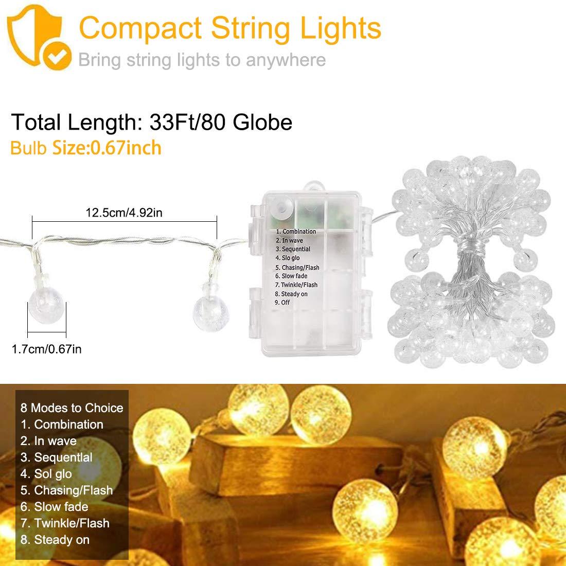 IP45 Waterproof Patio Lights 25FT G40 LED Globe String Lights with 12+1pcs Shatterproof Bulbs,1 Watt Dimmable 2700K Bomcosy Outdoor String Lights 12 X E12 Socket