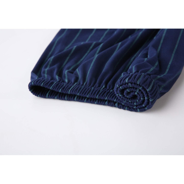AMAZING AMAZING Mens Pajamas Spring Long Sleeve Cotton Pyjamas Sleepwear Male Stripe Lounge Pajama Sets