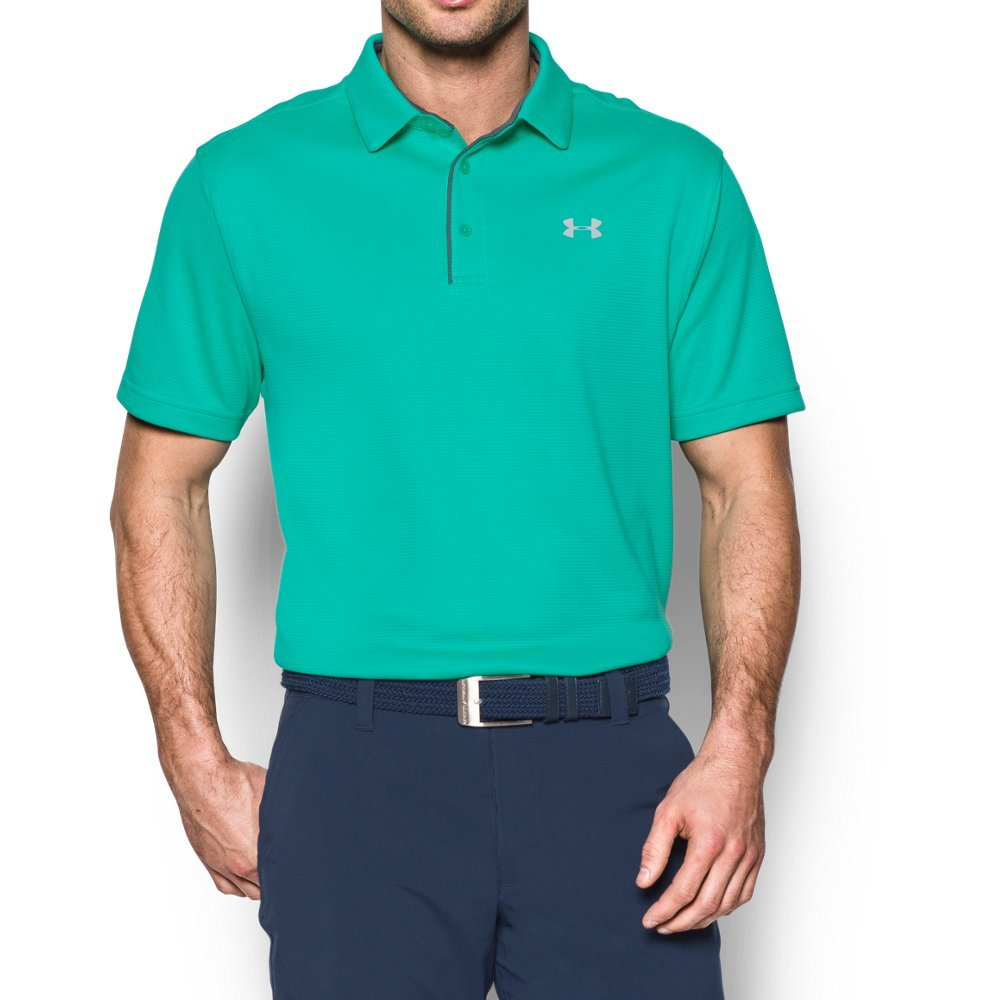Under Armour Men's Tech Polo, Absinthe Green (190)/Glacier Gray, Small