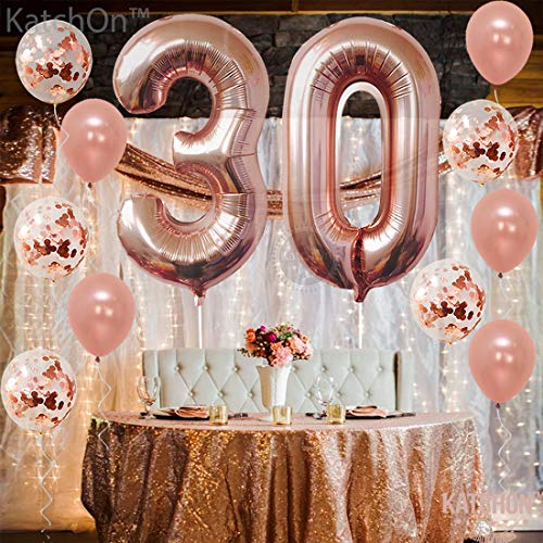 Amazon Rose Gold 30th Birthday Decorations Pack Of 21