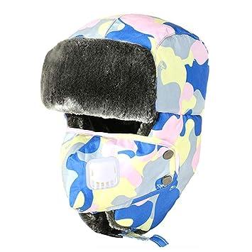 Cappello da pilota Regolabile Caldo Spesso Caccia Cappello Trooper Unisex  Passamontagna da sci antivento con paraorecchie 8831e7ffdc85