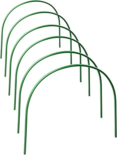 BELUPAI 6Pack Greenhouse Hoops for Plant Cover Support, 4ft Long Portable Garden Fabric Support Frame Plant Grow Tunnel for Garden Fabric Garden Stakes