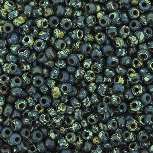 Miyuki Round Rocailles Seed Beads Size 11/0 8.5g Picasso Montana Blue Matte