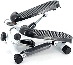 YYJF Hydraulic Mute Stepper Fitness Stair Stepper Machine Fitness Exercise Machine Compact Stepper Stepping Legs with Resistance Bands Legs Arm Thigh Exerciser Fitness Full Body Workout for Home Use