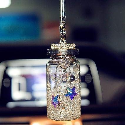 Amazon Com Kiwilife Austrian Crystal Wishing Bottle Car Hanging