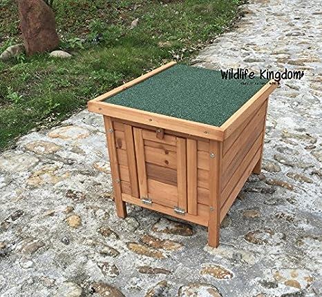 Caseta para animales Wildlife Kingdom 1302, hecha de madera, para cobayas, conejos, tortugas, patos, gallinas, etc: Amazon.es: Productos para mascotas