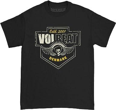 Volbeat Men/'s  Volbeer T-shirt Black