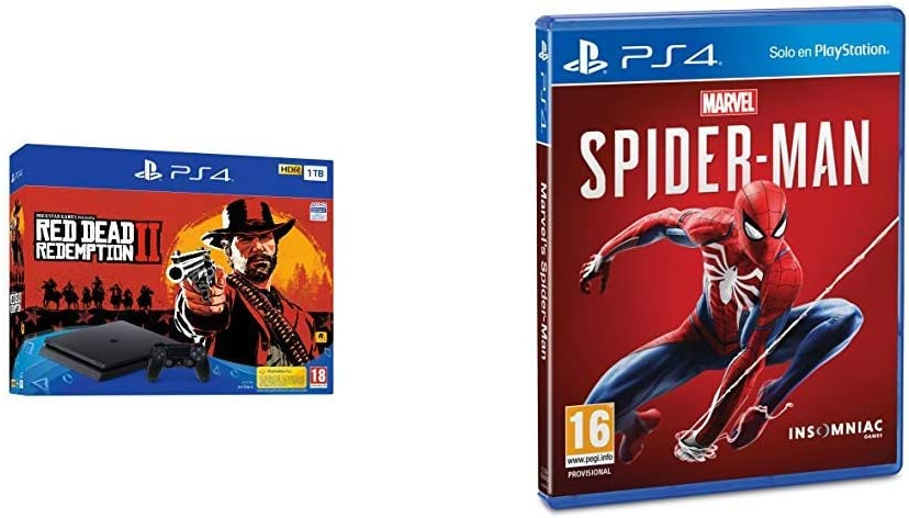 PlayStation 4 (PS4) - Consola de 1 TB + Red Dead Redemption II + ...