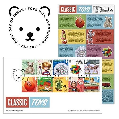 Classic Toys timbres Premier Jour couvertures 2017Toys Hill, Edenbridge Postmark Royal Mail