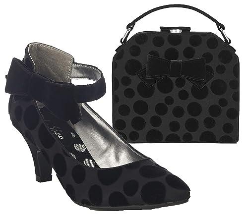 Ruby Shoo Damens's Cressida Ankle Strap Court Court Strap Schuhes & Matching Santa ... c1b199
