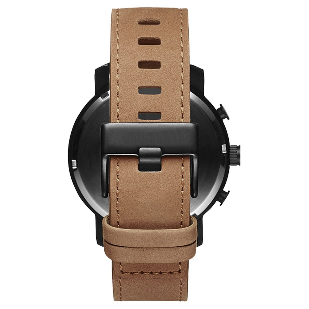 STARKING Top Brand Luxury Mens Chronograph Wrist Watch TM0913 Leather Watch Men Casual Style Fashion Minimal Waterproof Watches Scratch Proof Male by STARKING (Image #3)