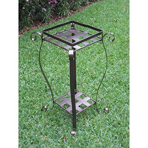 International Caravan Mandalay Iron Plant Stand in Bronze (International Collection Caravan Iron)