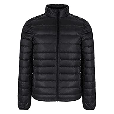Winter Jacket Men New Couples Coats Ultra-light Slim Fit Stand-Collar Cotton-