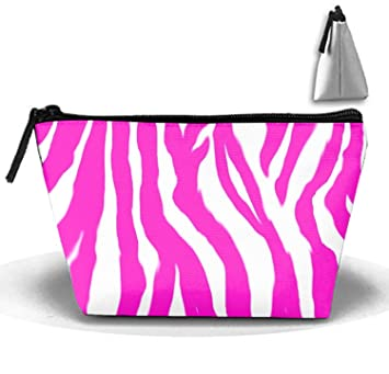 123706a3382cd Amazon.com : Pink Zebra Cosmetic Bags With Makeup Artist Case Multi ...