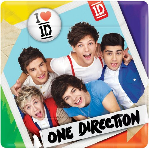 One Direction Small Square Plates (8ct) (One Direction Party Games compare prices)