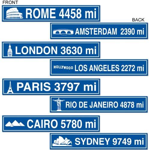 Travel Street Sign Cutouts Pkg
