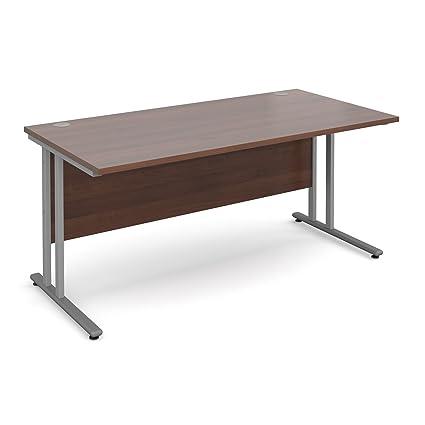 BiMi nogal rectangular mesa escritorio con 2 dibujar funda para ...