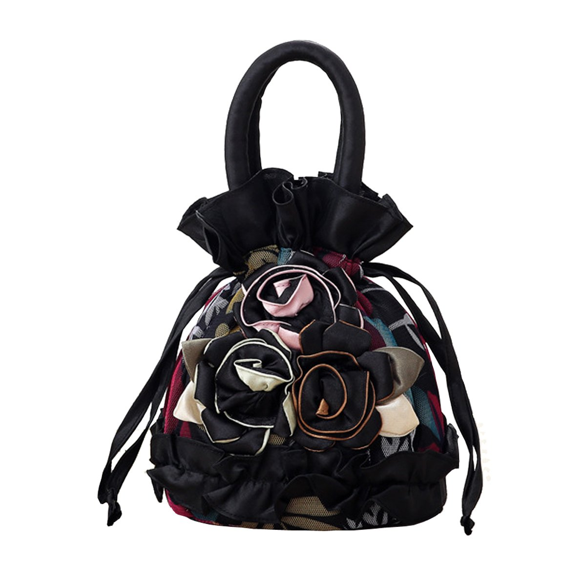 Womens Ladies Handbag Drawstring Bucket Bag Coin Purses Key Bags Cash Money Phone Pouches
