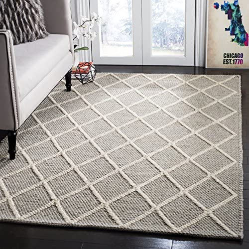 Safavieh Natura Collection NAT310C Hand-woven Area Rug, 8 x 10 , Grey