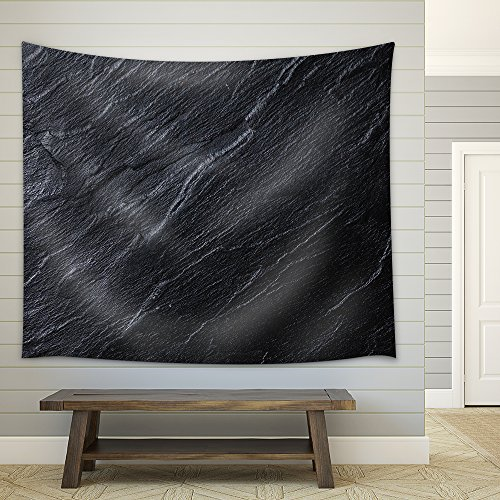 Black Stone Background Fabric Wall