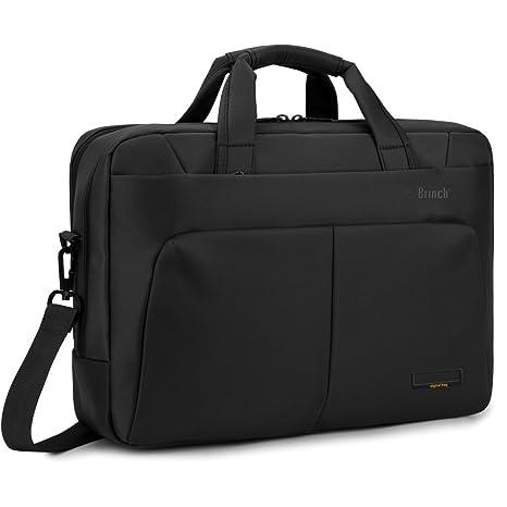 Brinch maletines para portátiles Bolso Bandolera para portátil, Multi-scomparto Elegante y Documentos Bolsa
