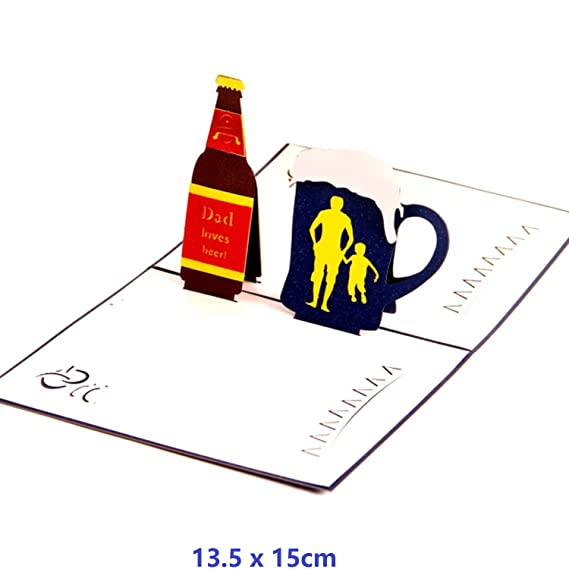Amazon Nacodex Fathers Day Gift 3d Pop Up Greeting Card Beer