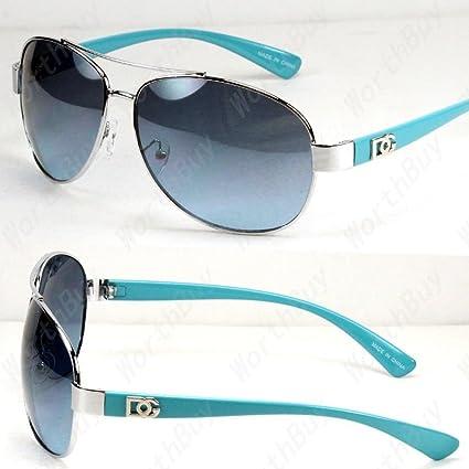 92d1b47991 Amazon.com  New DG Eyewear Aviator Fashion Designer Sunglasses Shades Mens  Women Blue Blue Tinted Lens  Toys   Games