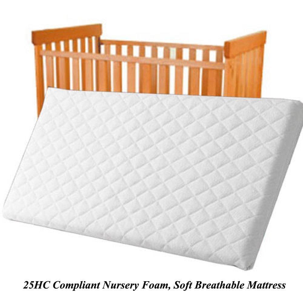 Bluemoon Bedding® Microfibre Hypoallergenic Crib Mattress 84x43 x 4cm Thick Square Corners British Made Quality Mattress
