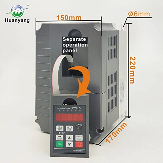 ... Variable Frequency Drive Controller Inverter Converter 220V 7.5KW 10HP For Spindle Motor Speed Control HUANYANG GT-Series (220V, 7.5KW) - - Amazon. com