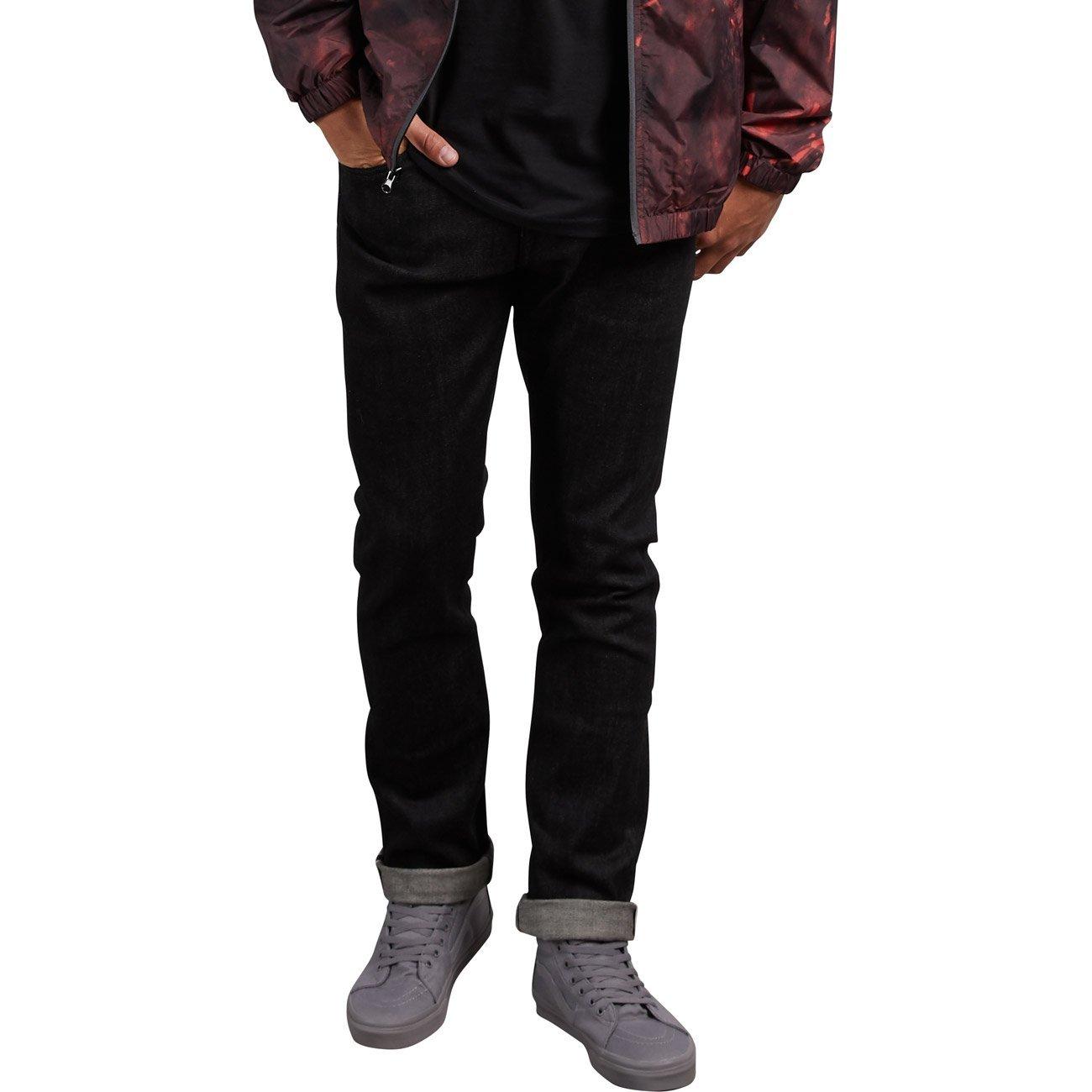 (ボルコム)VOLCOM スリム ストレッチ ストレート デニム (ローライズタイプ) 【 Vorta Denim 】 A1931501 B078464SQG 30W x 30L|Black Selvedge Black Selvedge 30W x 30L