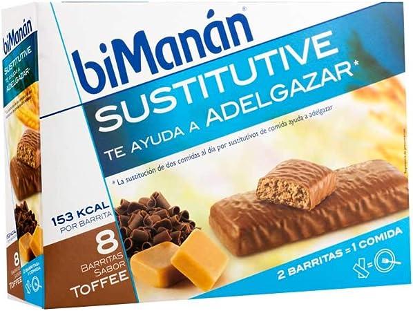 Bimanán - Barritas toffee sustitutive bimanán