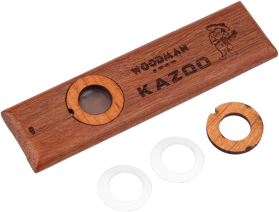 Funnyrunstore Portable Mini Metal Kazoo Instrumento musical Buen compa/ñero para guitarra Ukulele Gran regalo para ni/ños Amantes de la m/úsica Principiantes oro