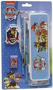 Set papeleria Patrulla Canina Paw Patrol 5pz: Amazon.es: Juguetes y juegos