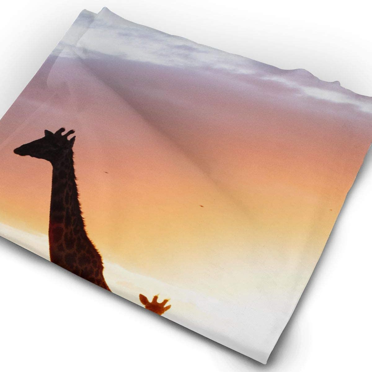Giraffe Family Sunset Trees Unisex Fashion Quick-Drying Microfiber Headdress Outdoor Magic Scarf Neck Neck Scarf Hooded Scarf Super Soft Handle