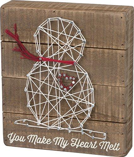 Christmas String Art (Primitives by Kathy Christmas String Art Box Sign, Heart)