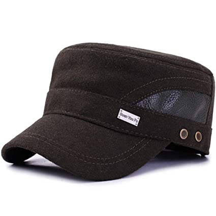OOFAY Gorra Plana, Gorra Militar al Aire Libre Tejido de Lana Sombrero de Moda Diseño