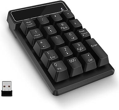 Teclado numérico por Paragala, 2.4G inalámbrico USB Teclado numérico Teclado Impermeable 19 Teclas Numpad para Ordenador portátil Ultrabook ...