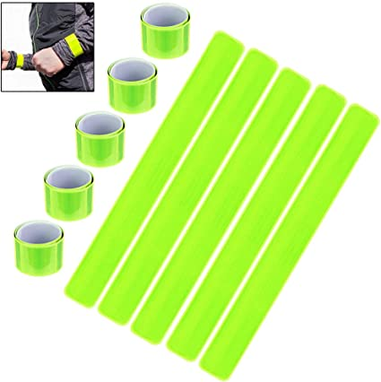 High Visibility Arm Slap Band Reflective Strap Safety Band Fluorescent Leg Arm