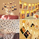 #10: Valentine's Day Decorations Photo Lights with Clips Battery Powered, Christmas Lights for Bedroom Wedding Party for Hanging Photos Created Valentine's Day Gifts for Her Him