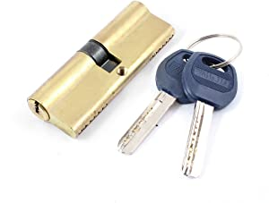 Aexit Gold Tone Lock Metal Safety Home Door Lock Cylinder w 7 pcs Keys Model:31as307qo573