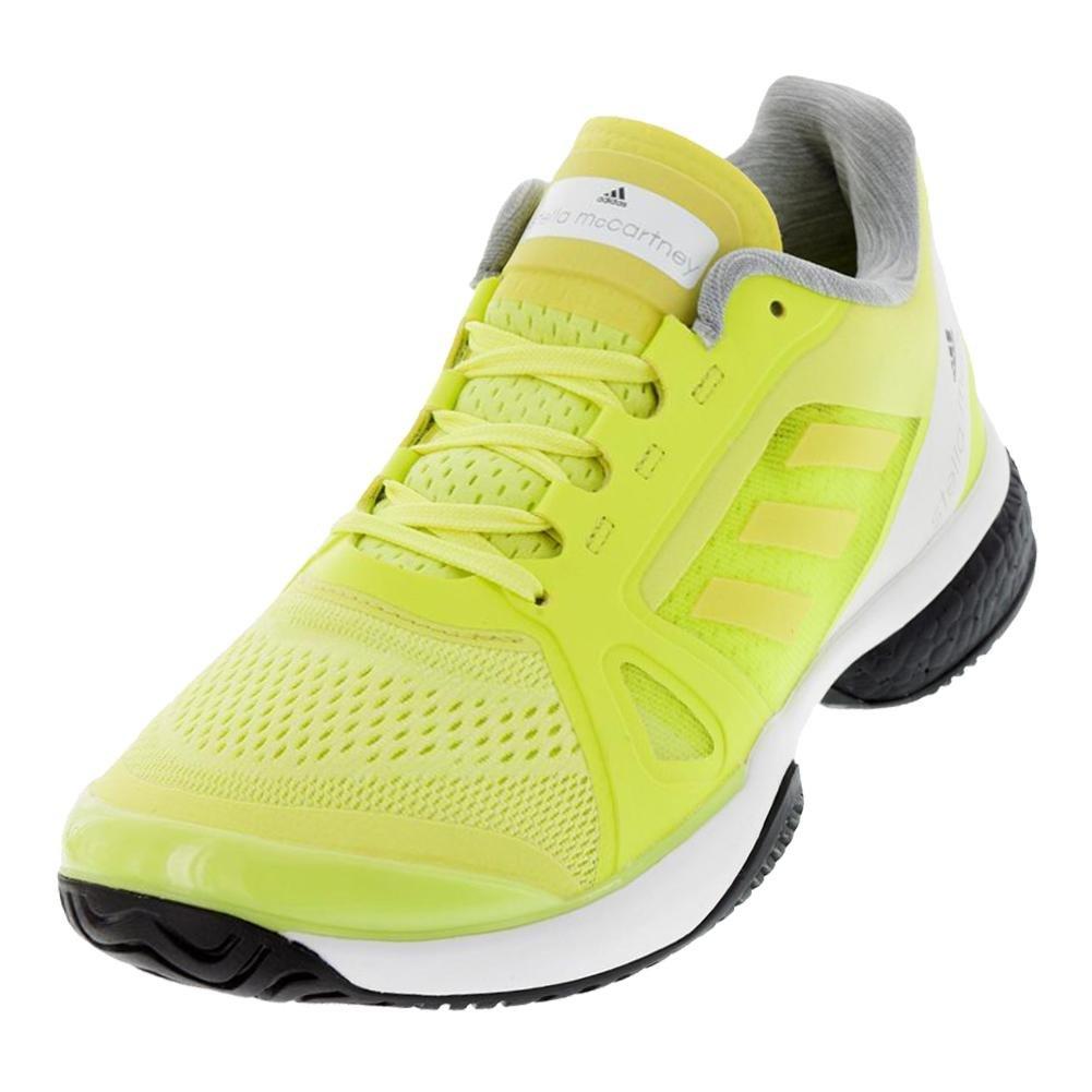 adidas Performance Women's ASMC Barricade Boost Tennis Shoe B073PFGGS4 7.5 B(M) US|Aero Lime/White/Black