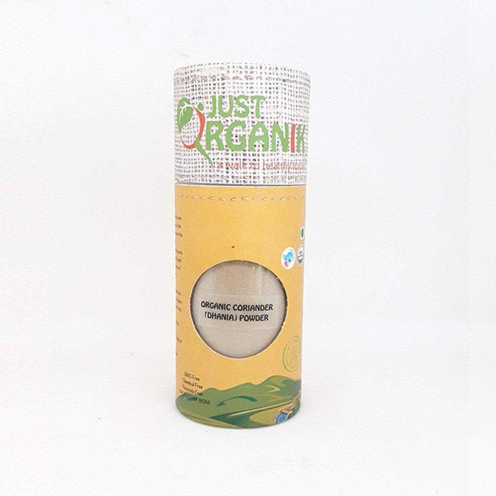 Just Organik Coriander Powder (Dhania Powder) 9 Oz (255gm), 100% Organic, GMO Free, Chemical Free, Pesticide Free, USDA Certified
